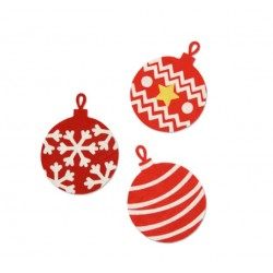 Fustella Sfera di Natale  - Sizzix Bigz Die - Christmas Ball 663231 Esclusiva Stafil