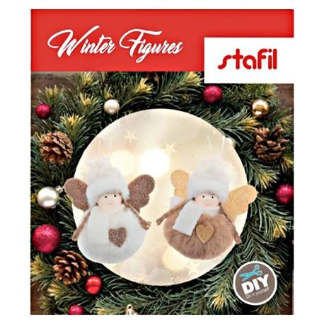 """Kit Natalizio Angeli Tondi - """"Winter Figures"""" Kit Da Assemblare"""