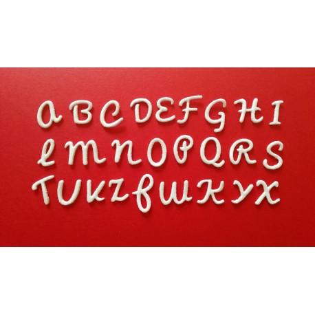 Alfabeto Corsivo Maiuscolo - Fustellato