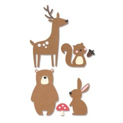 Fustella Animali della Foresta - Sizzix Bigz Die - Forest Friends 664593