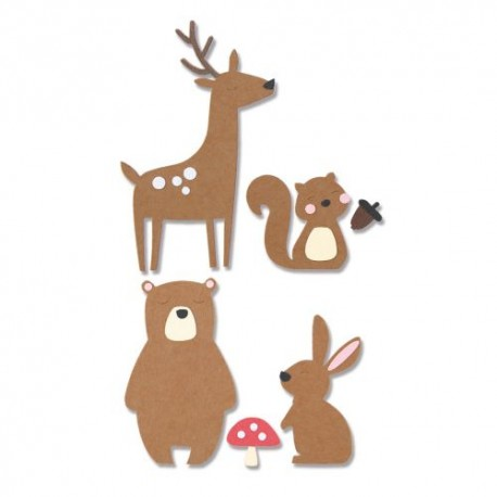 Fustella Animali della Foresta - Sizzix Bigz Die - Forest Friends 664593