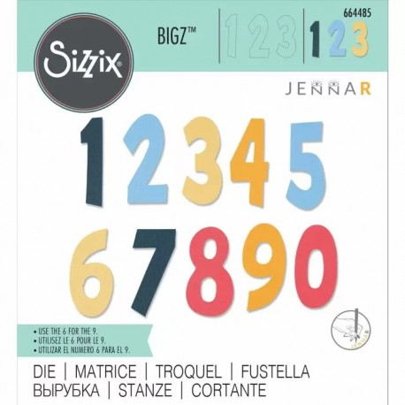 Fustella Numeri - Sizzix Bigz Die - Numeracy 664485 Numeri Grandi