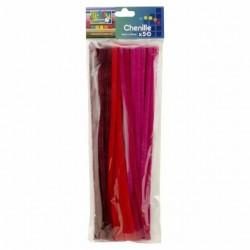 Scovolini Filo di Ciniglia Rosso - 30cm x 50 pezzi Filo Modellabile