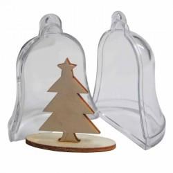 Campana Trasparente con Albero - Apribile in 2 Parti - Joy!Crafts • 9x7cm