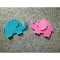 Elefantino Fustellato Gomma Crepla