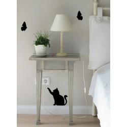 Gatto e farfalle - Adesivi