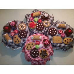 Scatola Portabiscotti Decorata Felt Food Cookies