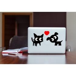 Gatto e Cane - Adesivi
