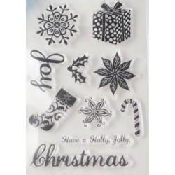 Set 10 Timbri Acrilici tema Natale