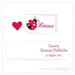 Bigliettini Laurea Personalizzati con Coccinella
