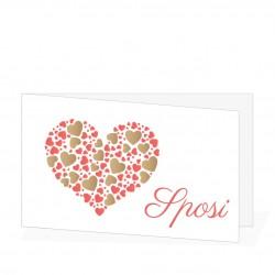 Bigliettini Matrimonio Personalizzati - Cuore