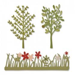 Giardino Fustelle Sizzix Thinlits Die - Green Garden 661375