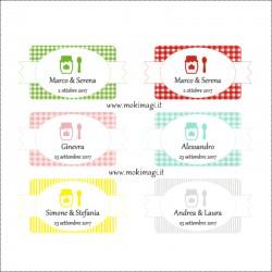 Etichette Marmellate Personalizzate (Adesive)