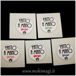 Etichette Adesive Personalizzate Tonde Mini 2cm (100 pezzi)