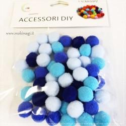 Mix: Pompon Celesti - Pompon Azzurri - Pompon Blue