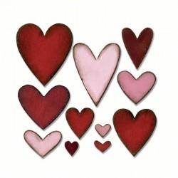 Heartfelt Sizzix Bigz Die 660233 Fustella Cuori Varie Forme