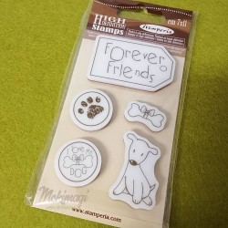"Timbro  ""Forever Friends"" in Caucciù 7x11cm Stamperia WTKCC60"