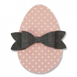 Fustella Uovo di Pasqua + Fiocchetto - Sizzix Bigz Die - Easter Egg 661692