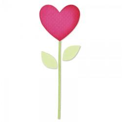 Fustella Cuore, foglie e stelo - Sizzix Bigz Die - Heart, Stem, Leaves 657691