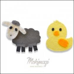 Sizzix Bigz Die - Sweet Spring Animals - Fustella Dolci Animali Primaverili 662633