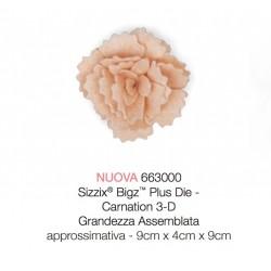 Fustella Sizzix Bigz Plus - Garofano con foglie - Carnation Fiore 3D 663000