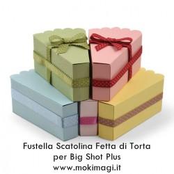 Fustella Fetta di Torta Sizzix Bigz Plus Die - Scatolina Bomboniera (Favour Box) 662631