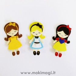 Bamboline Kawaii - Alice, Biancaneve, Belle in Gomma Crepla Assemblate o Fustellati - Principesse Kawaii