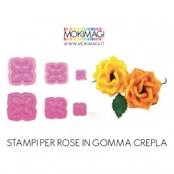 Stampo Rose in Gomma Crepla - 3 Stampi per Petali di Rose in Fommy
