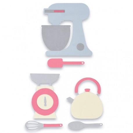 Fustelle Set Cucina - Sizzix Thinlits Die Set 10PK - Kitchen Set 663323