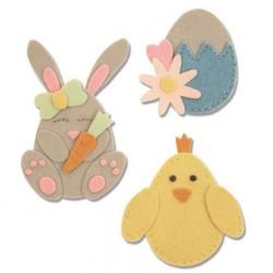Fustella Coniglio, Pulcino ed Uovo Sizzix Bigz L Die - Bunny, Chick and Egg 663492