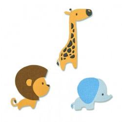 Fustelle Animali Giungla Baby - Sizzix Thinlits Die- Baby Jungle Animals 663580 Elefante Giraffa Leone