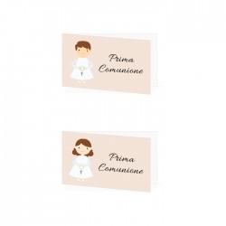 Bigliettini Prima Comunione Personalizzati - Bambina o Bambino - 30 pezzi