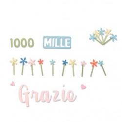 Fustella Grazie Mille Thinlits - Fustelle Metalliche Stafil 662625 - 8 pezzi