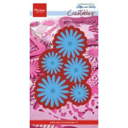 Fustella Fiori Marianne Design Creatables LR0472 Anja's flower Fiori tipo Margherite