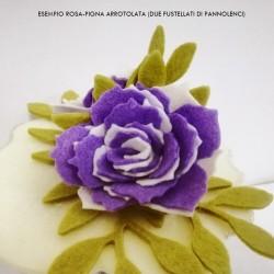 """Rosa Grande (Rosa Pigna) - Fustellato Fiore da """"arrotolare"""" in Vari Materiali"""