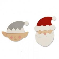 Fustella Babbo Natale ed Elfo - Sizzix Bigz Die - Santa & Elf 663378 Novità Natale 2019
