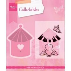 Fustella Casetta Uccellini + Timbri Marianne Design Collectables Birdhouse Birds COL1310