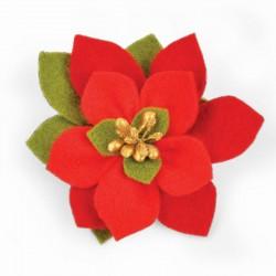 Stella di Natale - Fustella Sizzix Bigz Die - Build a Bloom, Poinsettia 661294
