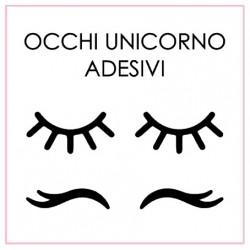 Occhi Unicorno Adesivi da applicare su Sfere Trasparenti, Barattoli, Bottiglie e altro