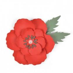 Fustella Papavero - Sizzix Bigz Die - Poppy 663353 Fiore Papavero
