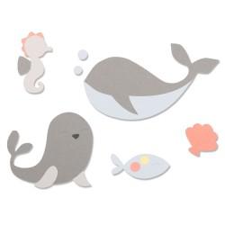 Fustella Animali Marini Sizzix Bigz Die - Ocean Friends 664596 Fustella Mare