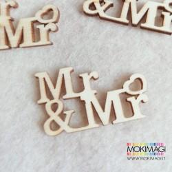 """""""Mr&Mr"""" in Legno - Scritta in Legno Decorativa - Applicazione Lui&Lui Unioni Civili"""