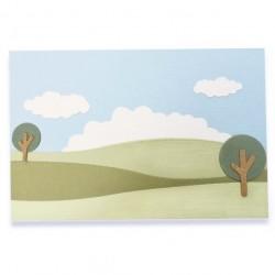 Fustella Paesaggio - Build a Landscape - Sizzix Thinlits Die Set 8PK 662839