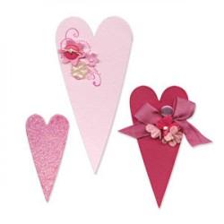 Fustella Cuori Sizzix Bigz Die - Hearts, Primitive 656335