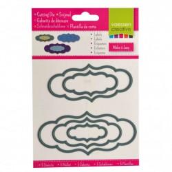 Set Fustelle Etichette Cloud - Vaessen Creative 3624-001 Fustelle Targhette
