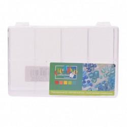 Scatola Bead Box - Contenitore Trasparente 9x14cm - 8 Scompartimenti