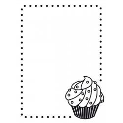 Darice Embossing Folder - Fustella per Rilievo con Cupcake - 1217-49