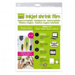 Shrink Plastic Stampabile Inkjet Bianca A4 x 5 fogli - Vaessen Creative 1611-001