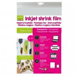 Shrink Plastic Stampabile Inkjet Trasparente A4 x 5 fogli - Vaessen Creative 1611-002