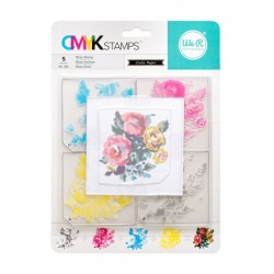 Timbro Rosa We R Memory Keepers • CMYK Stamp kit Rose 660544